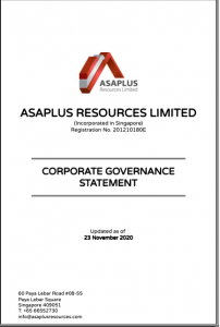 Asaplus Resources CG Statement 2020
