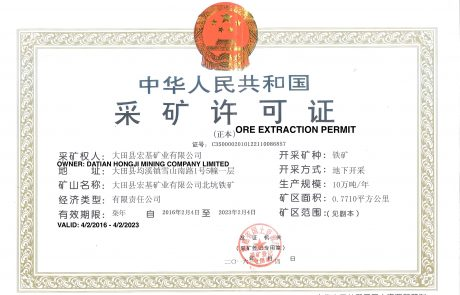 Ore Extraction Permit