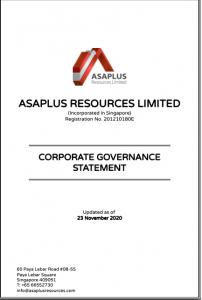 Asaplus Resources CG Statement 2020